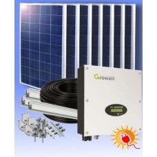 Сетевая солнечная электростанция  12000 Вт∙ч/сутки