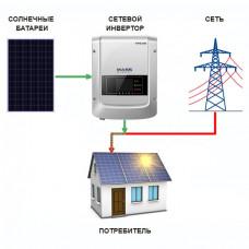 Сетевая солнечная электростанция  185000 Вт∙ч/сутки