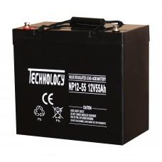 Аккумуляторная батарея TECHNOLOGY 12V55AH