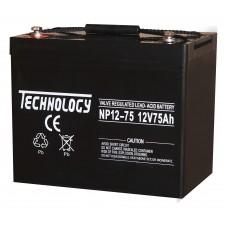 Аккумуляторная батарея TECHNOLOGY 12V75AH